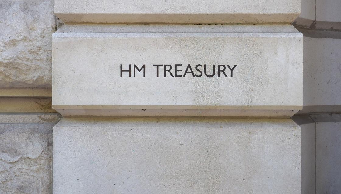 Entrance to HM Treasury