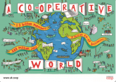 Illustration a co-operative world