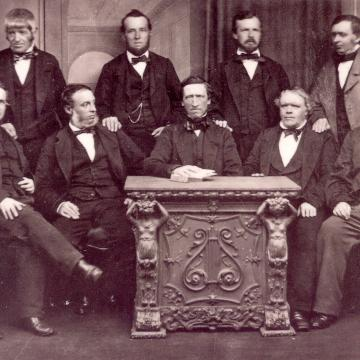 Photograph of the Rochdale Pioneers from 1865