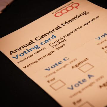 AGM voting card