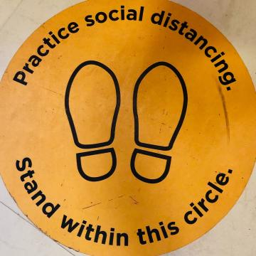 Social distance footprints