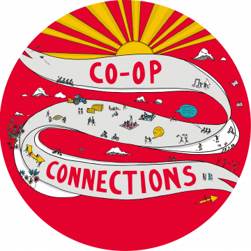 Badge saying co-op connections