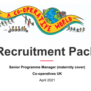 Senior Programme Manager – maternity cover
